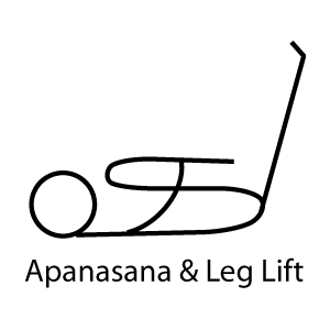 Apasana with Leg Lift - Knee to Chest Pose with Leg Lift