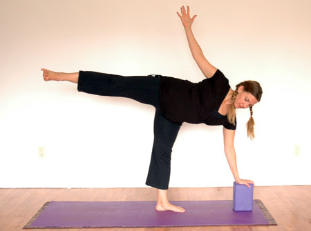 a standing balance flow to invigorate  yoga flavored life