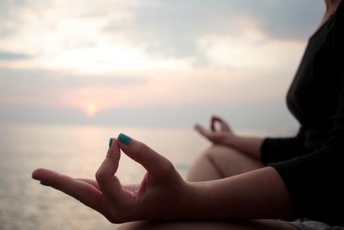 meditating-outdoors