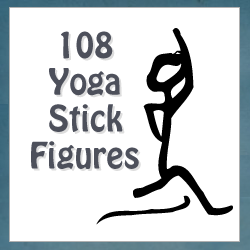 108 Yoga Stick Figures
